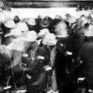 013_Pg27-KMK.6350BW-Coming up - underground miners at end of shift