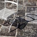 018_Abs.0041 White Steel Chair