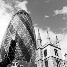 004_ArcUk.2622BW-Gherkin-+-St-Andrew-Undershaft-Church-London