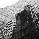 009_ArcUk.2908BW-Lloyd's-Building-reflected-in-Willis-Building-London