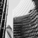 013_ArcUk.2791BW-Lloyd's-Gherkin-+-Willis-Buildings-London
