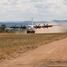 002_Av.2210 Lockheed Hercules L382G Landing at Bush Airstrip