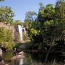 033_TZmN.7772-Ntumbachushi-Falls-&-Man-Hiking-N-Zambia