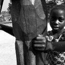 014_CZmA.8550BW-African-Village-Child-&-Carved-Water-Well-NW-Zambia