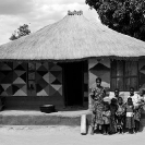 017_PZmN.8069BW-African-Painted-House-&-Owners-N-Zambia