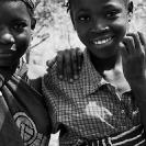 006_PZmNW.8440BW-Village-Girls-NW-Zambia